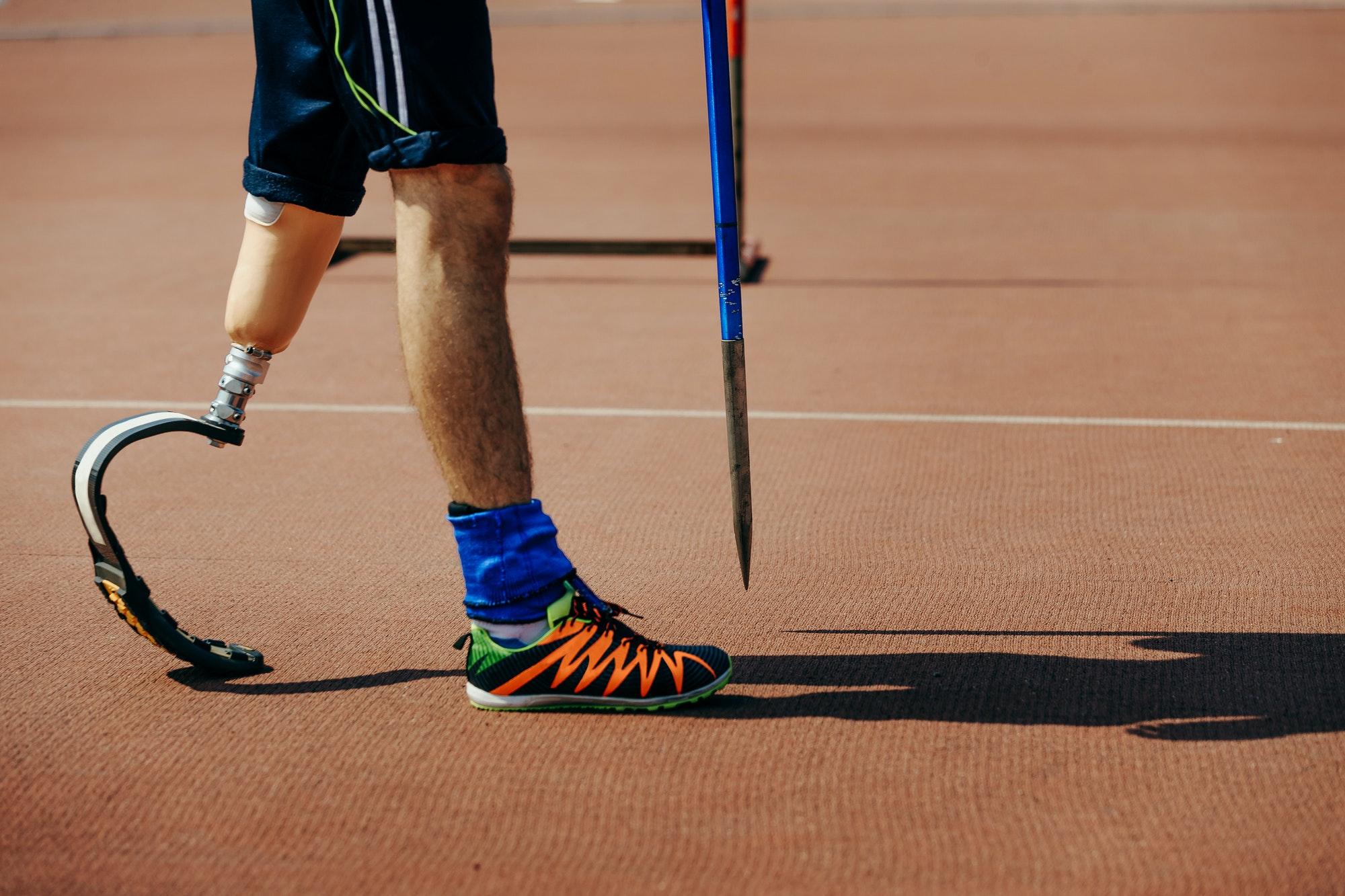 athlete with limb loss leg