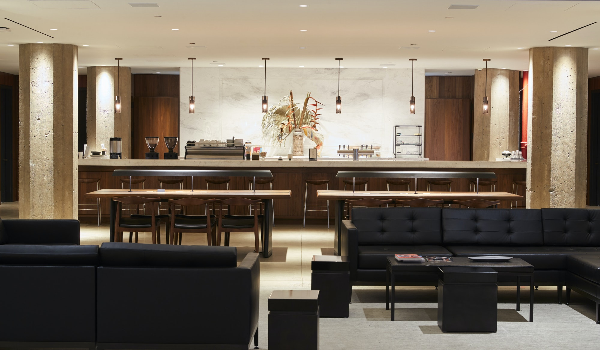 Empty bar lounge area in a modern business premises
